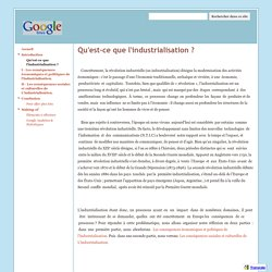 Qu'est-ce que l'industrialisation ? - Industrialisation du XIX siecle