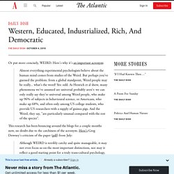 Western, Educated, Industrialized, Rich, And Democratic