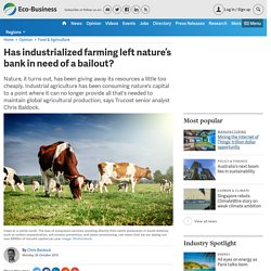 Has industrialized farming left nature's bank in need of a bailout?