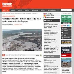 Canada : l'industrie minière pointée du doigt après un désastre écologique