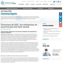 Émissions de GES : les entreprises ne pourront pas tout faire seules