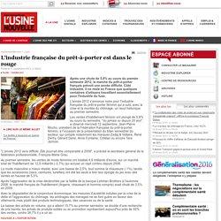 L'industrie française du prêt-à-porter est dans le rouge - Textile - Habillement