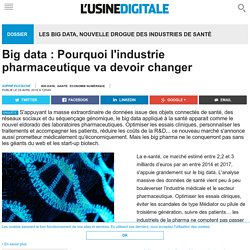 Big data : Pourquoi l'industrie pharmaceutique va devoir changer