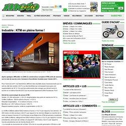 Industrie : KTM en pleine forme ! - Autres - Brèves sur Moto Verte