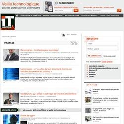 Piratage : News et infos du secteur sur Industrie & Technologies