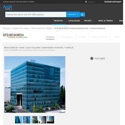 Brise-soleil en verre / pour façade / orientable motorisé / vertical - CUBUS SEESTERN by Schneider & Schumacher Architekten - STG-BEIKIRCH Industrieelektronik + Sicherheitstech