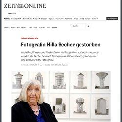 Industriefotografie: Fotografin Hilla Becher gestorben