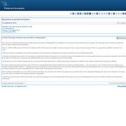 PARLEMENT EUROPEEN - Réponse à question E-7119/2010 Élevage industriel des crevettes au Bangladesh