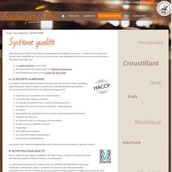 Système qualité ISO9001 Boulanger industriel certifié HACCP Grenoble Isère Drôme - Boulangerie Pani