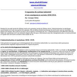 G. Vidal - L'expansion du système industriel et ses conséquences sociales 1850-1914