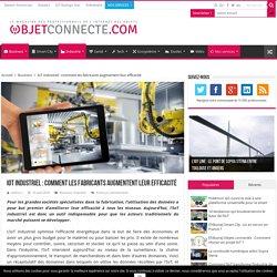 IoT industriel : les fabricants augmentent leur efficacité