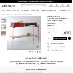 Console style industriel 1 tiroir, finition chêne, La Redoute Interieurs en soldes