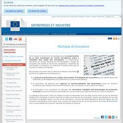 Politique d'innovation - Innovation - Entreprises et industrie