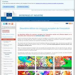 Deuxième édition du concours européen de l'innovation sociale - Innovation industrielle - Entreprises et industrie