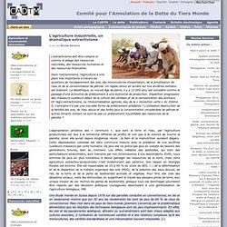 L'agriculture industrielle, un dramatique extractivisme