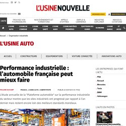 Les performances de l'automobile industrielle