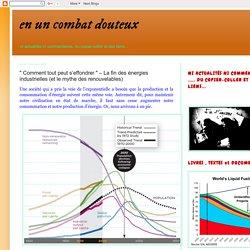 """en un combat douteux: """" Comment tout peut s'effondrer """" – La fin des énergies industrielles (et le mythe des renouvelables)"""