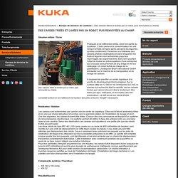 KUKA Robots industriels - Des caisses triées et lavées par un robot, puis renvoyées au champ