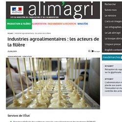 Industries agroalimentaires : les acteurs de la filière