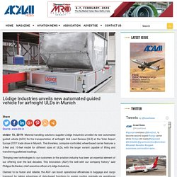 Lödige Industries unveils new automated guided vehicle for airfreight ULDs in Munich