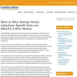 Here is Why Energy Sector Industries Benefit from our HEATX-2 BTU Meters - Cadillac Meter