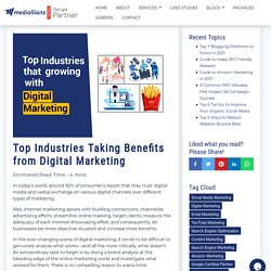 Top Industries Taking Benefits from Digital Marketing