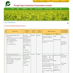 Punjab Agro Industries Corporation Limited(PAIC)