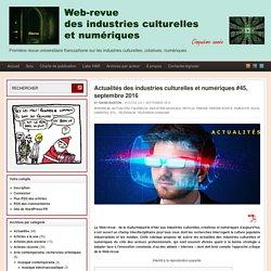 Web-revue des industries culturelles et numériques