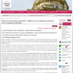 2) Projet de loi de finances pour 2017 : Médias, livre et industries culturelles : livre et industries culturelles