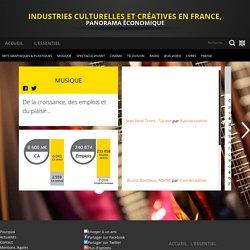 Musique - Industries culturelles et créatives en France, Panorama économique