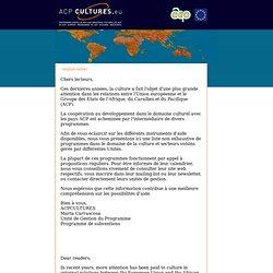 programme d'appui aux industries culturelles ACP - Accueil