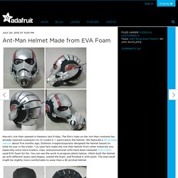 Ant-Man Helmet Made from EVA Foam