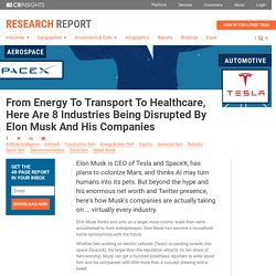 8 Industries Being Disrupted By Elon Musk And His Companies