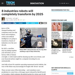 8 industries robots will completely transform by 2025