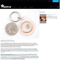 MiFare Classic (13.56MHz RFID/NFC) Clear Keychain Fob [1KB] ID: 363 - $2.50 : Adafruit Industries