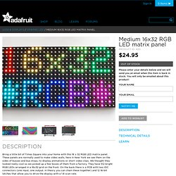 16x32 RGB LED matrix panel ID: 420 - $79.95 : Adafruit Industries