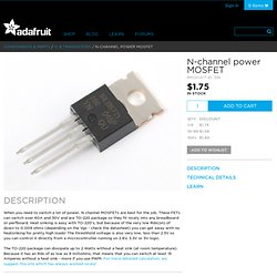 N-channel power MOSFET [30V / 60A] ID: 355 - $1.25