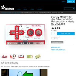 MaKey MaKey by Jay Silver and Eric Rosenbaum - Made by JoyLabz ID: 1068 - $49.95