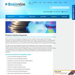 Finance Industries Expertise - Financial Community Portal & More Solutions