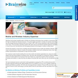Mobile and Wireless Industries Expertise - Mobile Apps, Mobility & More Solutions