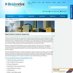 Real Estate Industries Expertise - Real Estate Software & More Solutions