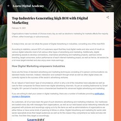 Top Industries Generating high ROI with Digital Marketing