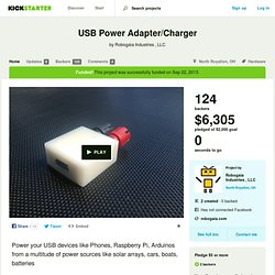 USB Power Adapter/Charger by Robogaia Industries , LLC