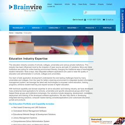 Education Industries Expertise - E-learning, School Management & More Solutions