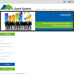 ERP Software for Service Industries by Sopris Systems