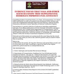 National Vapor Industries Inc. Hydrogen Generator Technology Proof
