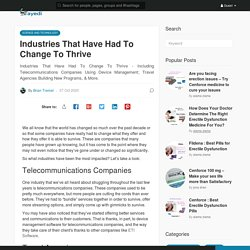 Industries That Have Had To Change To Thrive