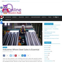 Steel Manufacturing Industry