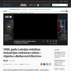 1930. gadu Latvijas mūzikas industrijas veiksmes stāsts – rūpnīca «Bellaccord Electro» / Raksts / LSM.lv