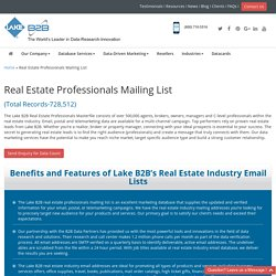 Real Estate Industry Email Lists